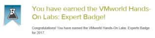 HOL expert badge